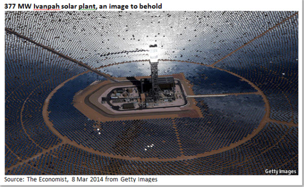 377 MW Ivanpah solar plant, an image to behold